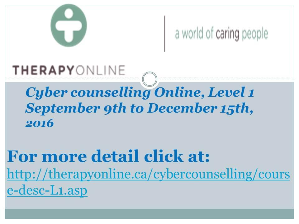 Cybercounselling Online-Fall 2016