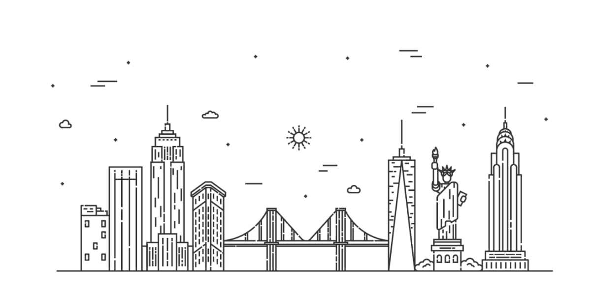 Skyline di New York City
